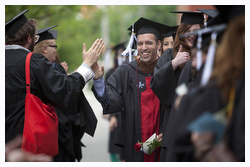 Graduation photograph Mason Gross Rutgers University Events